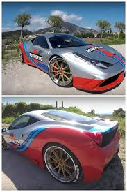 rainbow chrome ferrari ferrari 458 speciale with martini stripes classic or sacrilege