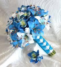 blue lilies bouquets