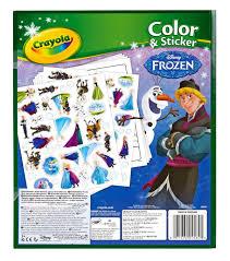 color sticker book frozen crayola