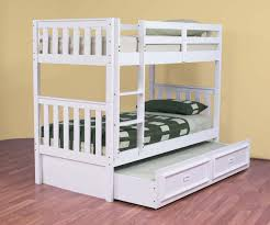 White Bunk Bed With Trundle Bunk Bed With Trundle Ideas Thenextgen Furnitures