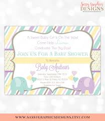 elephant baby shower invitation baby shower invitation