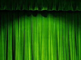 hd green curtain material 27560 classic design material