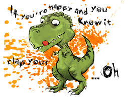 t rex happy and you it if you re happy and you it by sporkerang on deviantart