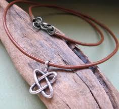 leather necklace knot images Celtic necklace leather cord celtic knot pendant for men mens jpg
