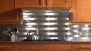 steel kitchen backsplash kitchen metal tile backsplashes hgtv stainless steel kitchen