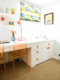 Kids Built In Desk by How To Create A Stylish And Organized Desk Space Hgtv U0027s