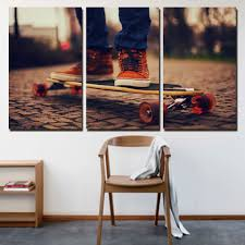 Canvas Painting For Home Decoration by Popular Skateboarding Wall Art Buy Cheap Skateboarding Wall Art