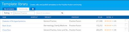 ehr templates patient intake charting u0026 more practice fusion