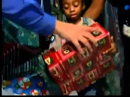 homeless children receive christmas gifts youtube