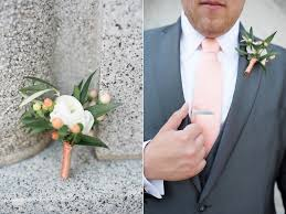mens boutineer white ranunculus boutonniere white coral mens boutonniere