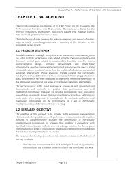 Research Objective Statement Chapter 1 Background Evaluating The Performance Of Corridors