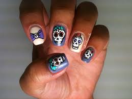 495 best skull nails images on pinterest skull nail art skull