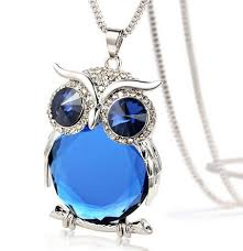 crystal owl pendant necklace images Crystal owl pendant necklace owl observatory png