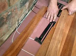 Laminate Floor Transition How To Install Flooring Around A Fireplace How Tos Diy