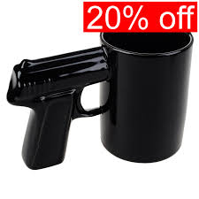 creative gun handle pistol design mug revolver cup ceramic coffee