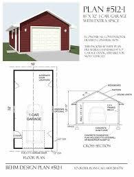 garage plan large 1 car garage plan no 512 1 by behm design garage plans by