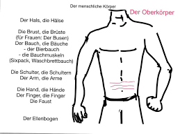 parts of the human body in german body parts coloring pages for