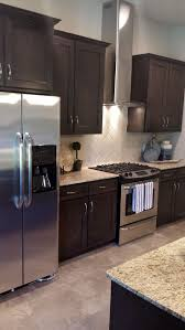 modern kitchen backsplash white brown kitchen island brown