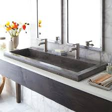trough sink with 2 faucets trough bathroom sink with two faucets search results for double