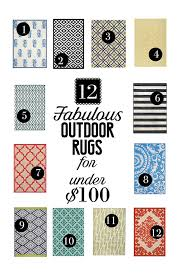 Rugs Under 100 12 Fabulous Outdoor Rugs For Under 100 Less Than Perfect Life