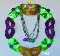 mardi gras bead wreath mardi gras mask wreath purple patch diy