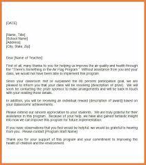 teacher appreciation letter sop proposal