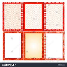 set frames borders templates diploma certificate stock vector