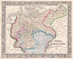 Map Of Belgium And Germany by File 1864 Mitchell Map Of Prussia And Germany Geographicus