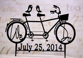 bicycle cake topper bicycle for two wedding cake topper with we do your wedding