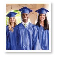 blue cap and gown cap gown tassel unit