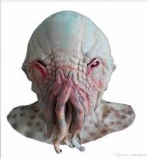 horror halloween octopus latex mask natural emulsion monster