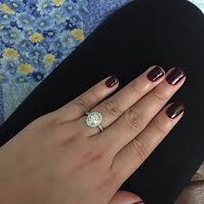 show me your current nail polish color with ring pic weddingbee