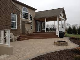 Deck And Patio Combination Pictures by Dayton Patio Builders Cincinnati Patio Builders Miam Township Oh