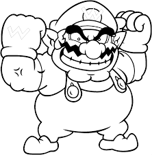 wario coloring pages