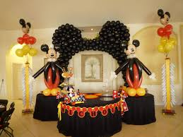 mickey clubhouse cake table decoration with balloons mickey