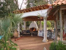 Outdoor Fireplace Houston by Houston Spanish Style Patio With Fireplace And Mediterranean Flair