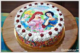 birthday cake anna elsa frozen girls text photo