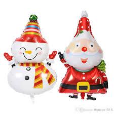 50 balloons delivered new santa claus snowman foil balloons globos merry christmas