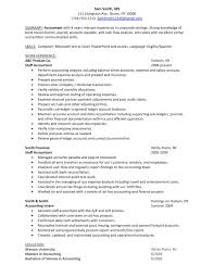 Accountant Sample Resume by Sample Resume For Bank Accountant Augustais