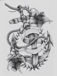 latest grey flowers and anchor tattoo designs tattooshunter com