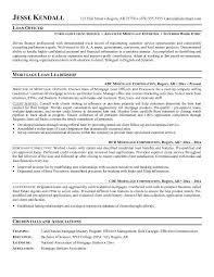 Real Estate Agent Job Description For Resume by Mortgage Loan Officer Job Description Sample Recentresumes Com