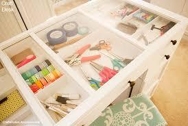 Craft Desk With Storage Craftaholics Anonymous Craft Organization Week Craft Desk