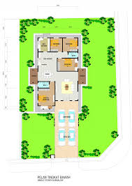 Single Storey Bungalow Floor Plan by T Villa Jaya Gading Tapak Group