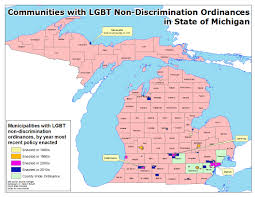 State Of Michigan Map by Michigan Lgbt