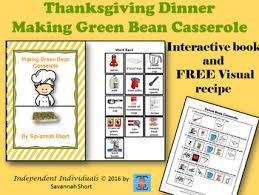 thanksgiving interactive book green bean casserole free