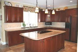 Granite Countertops With Cherry Cabinets Best Granite For Cherry Cabinets Inspirations And Pictures
