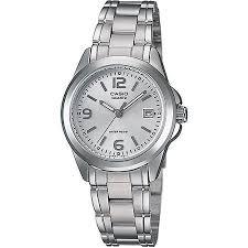 steel bracelet images Casio women 39 s silver dial watch stainless steel bracelet jpeg