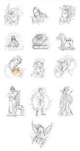 greek mythology symbols greek god symbols characters icons at