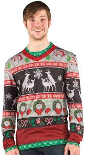 frisky deer sweater faux real