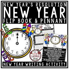 new year s resolutions books happy new years 2018 activity flip book a new years